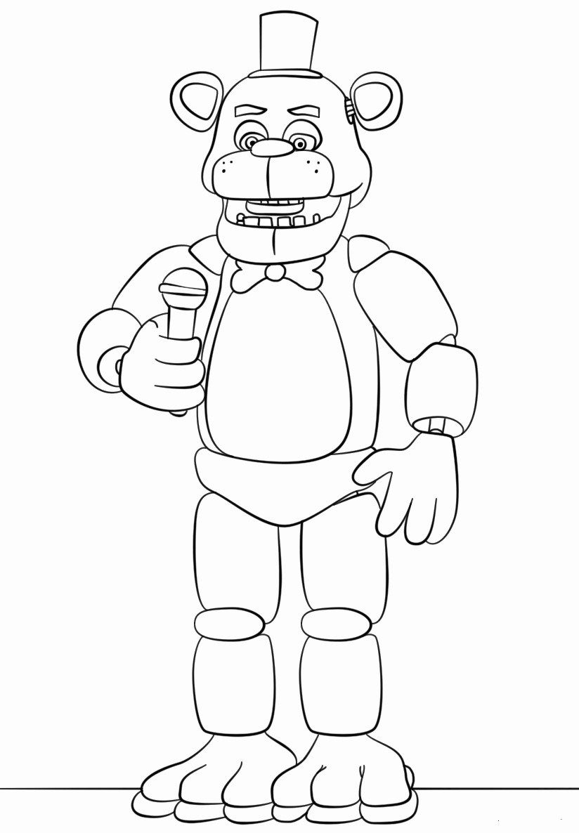 wonderful of fnaf coloring davemelillo books to print freddy drawn optical illusions coloring pages Freddy Coloring Page