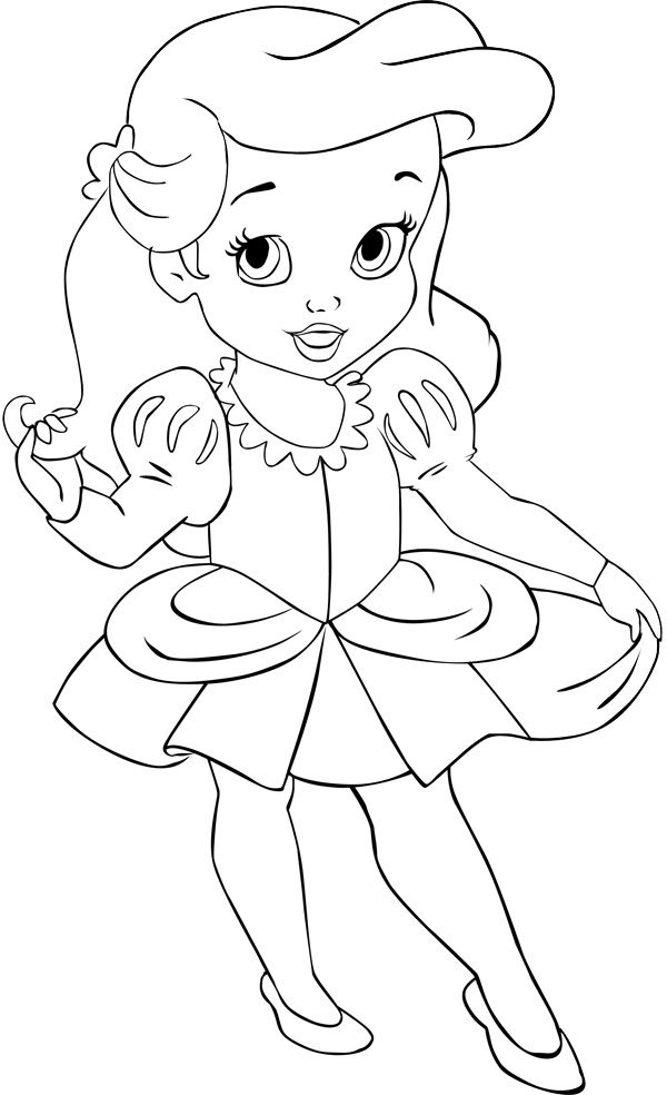 years ariel by alce1977 on deviantart disney princess coloring mermaid colors baby coloring pages Baby Ariel Coloring Page