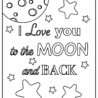 you coloring updated to the moon and back wonderposter bookmarks crafts melted crayon coloring pages I Love You To The Moon And Back Coloring Page