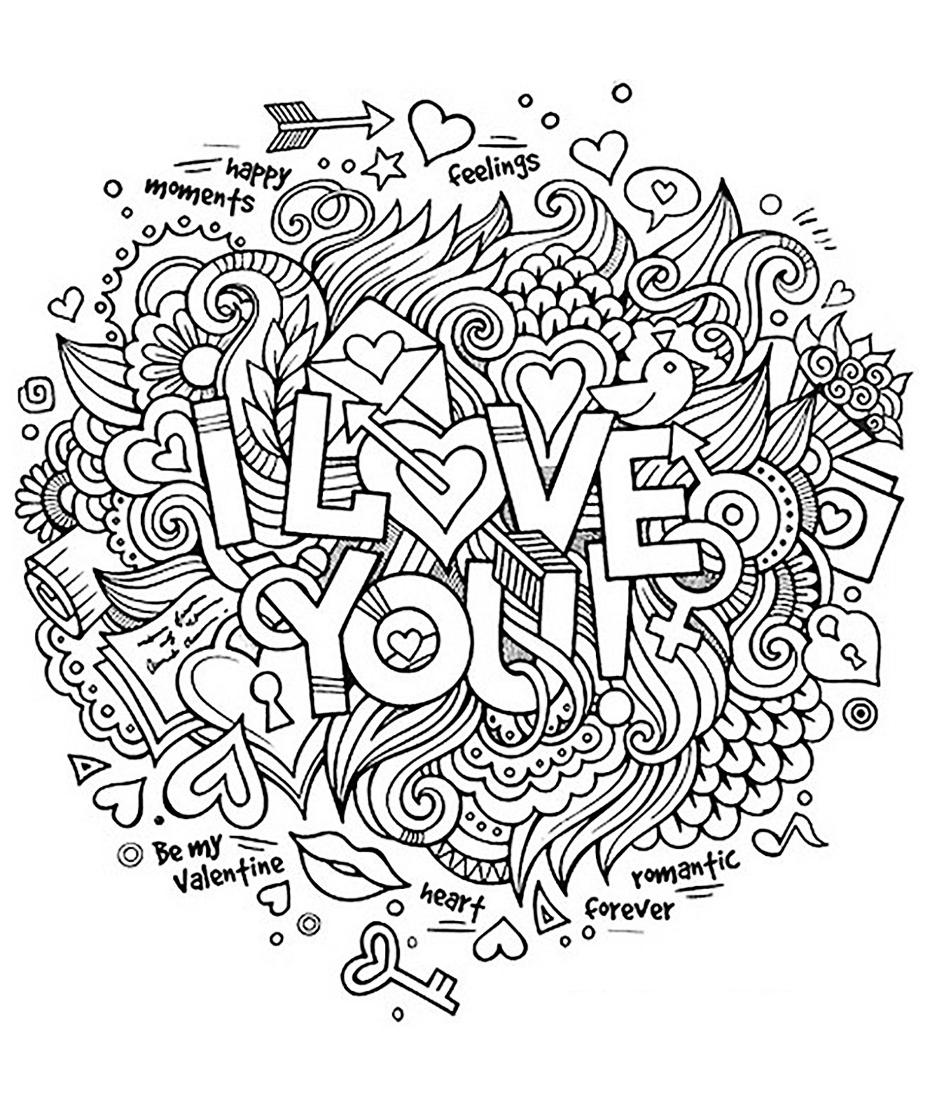 you positive inspiring quotes adult coloring countdown to christmas in az mandala lesson coloring pages Coloring Page I Love You