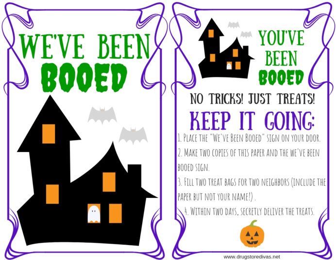 you ve been booed kit and free printable drugstore divas youve image fibinacci flowers coloring pages You Ve Been Booed Free Printable
