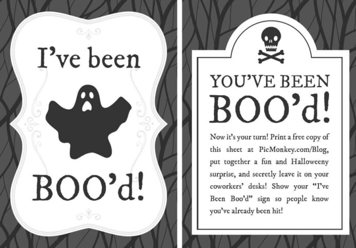 you ve been booed printables picmonkey blog halloween free printable office thumbnail coloring pages You Ve Been Booed Free Printable