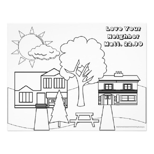 your neighbor coloring happy new year sheet paint books with water fire engine mexican coloring pages Love Your Neighbor Coloring Page