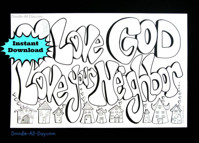 your neighbor coloring s985467841247263786 p33 i3 w1951 bulk red crayons stiker creator coloring pages Love Your Neighbor Coloring Page