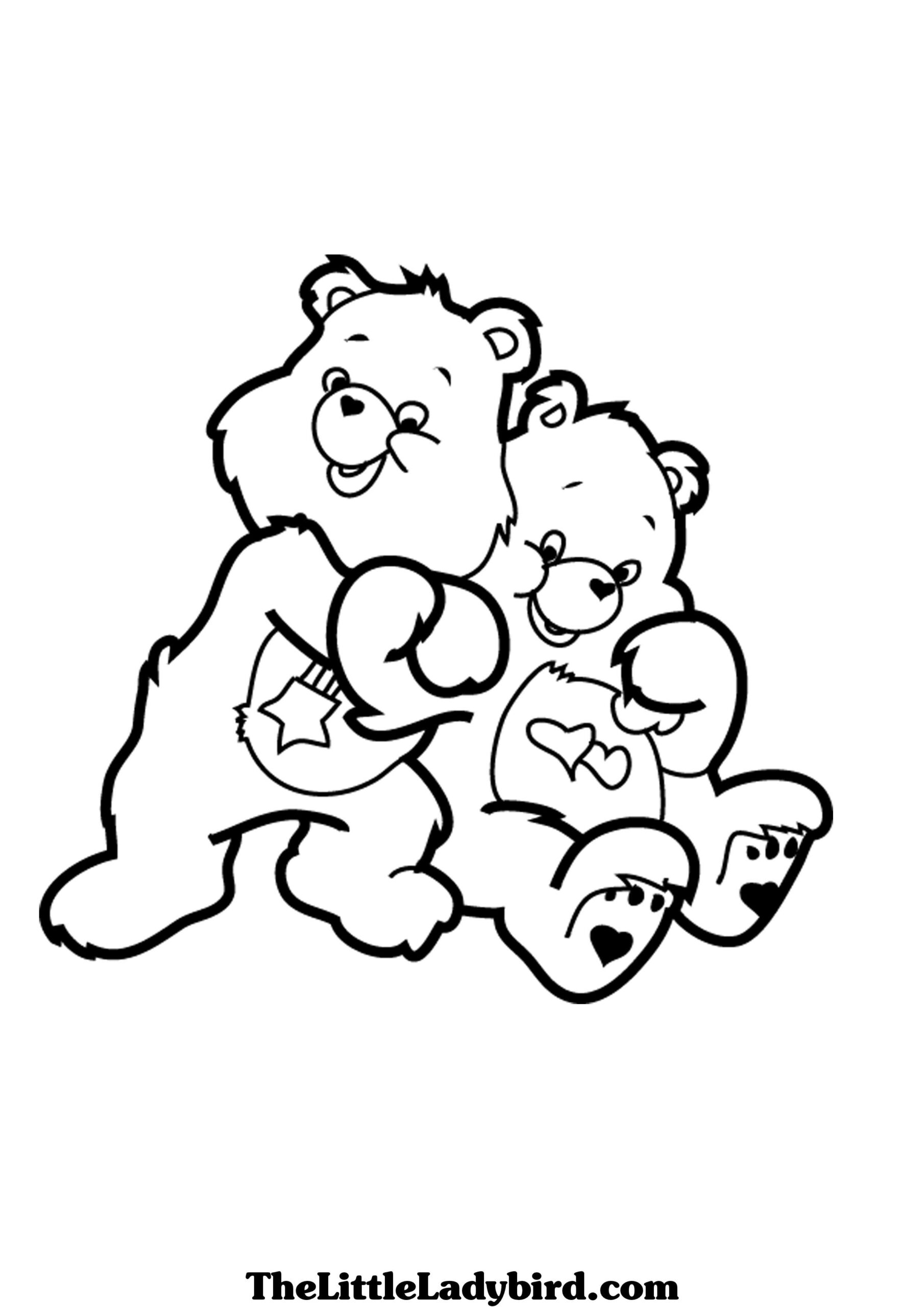 care bears lot hugs coloring printable bear teddy hugging elsa to color damp truck free coloring pages Hugging Coloring Page