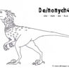 deinonychus coloring dinosaur or halloween pictures adults crafts fall printables with coloring pages Deinonychus Coloring Page
