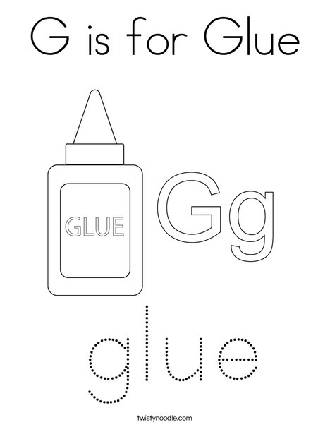 is for glue coloring twisty noodle 468x609 q85 salmon the color metallic gel pens tan coloring pages Glue Coloring Page