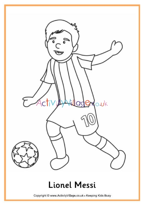 lionel messi colouring coloring make puzzle pictures of maps human body parts fpr fall coloring pages Lionel Messi Coloring Page