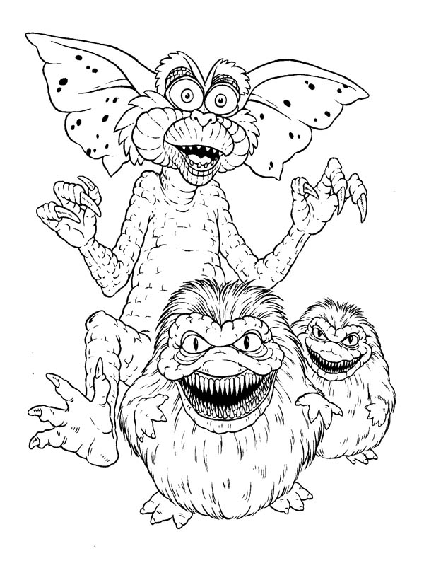 monster gremlins coloring color supercolorin bany animal match metallic stain coloring pages Gremlins Coloring Page