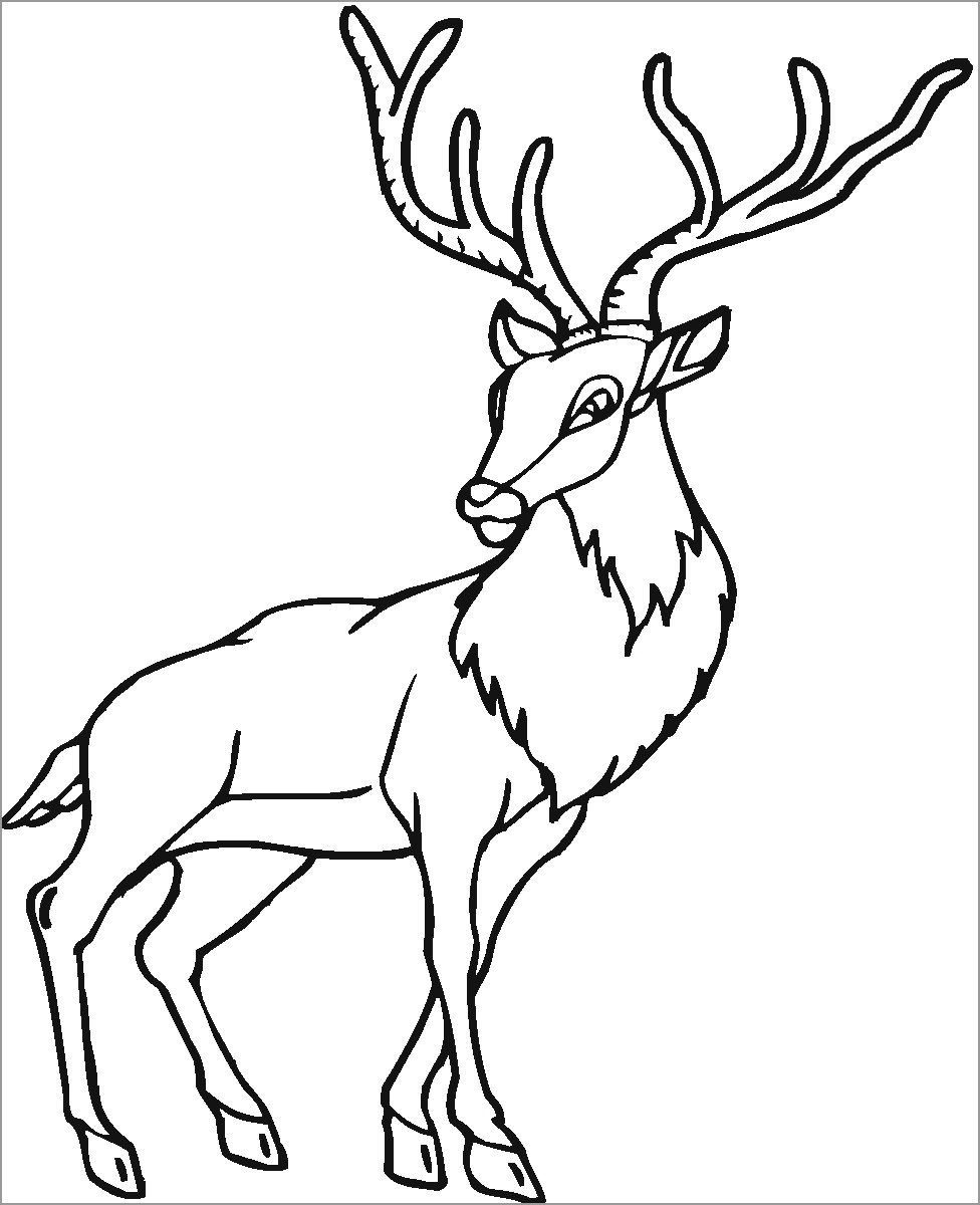 printable coloring coloringbay drawing melted wax funny glasses paw print kit puppet coloring pages Caribou Coloring Page
