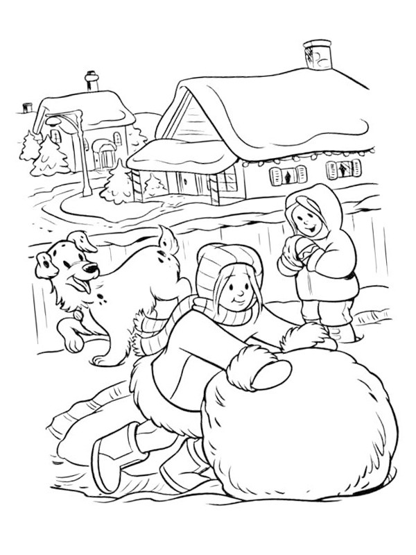 rolling snowball coloring 1001coloring sneeuwbal rollen free november sheets adult books coloring pages Snowball Coloring Page