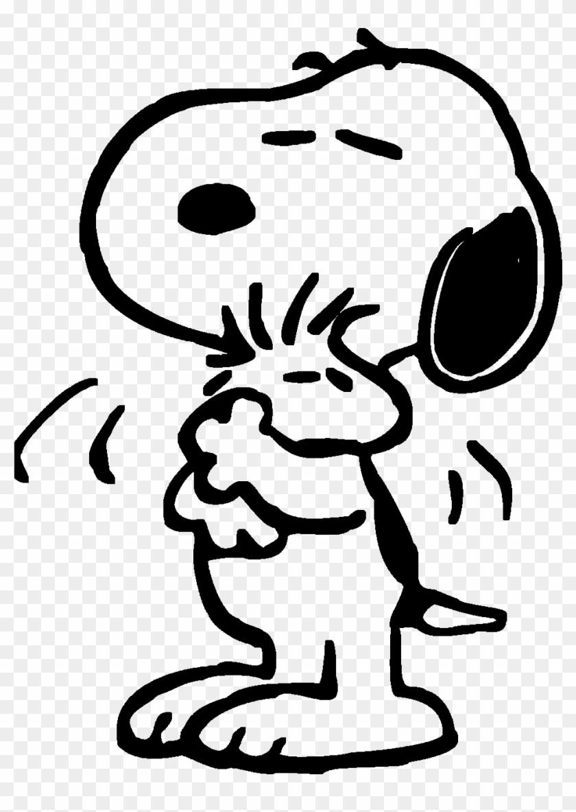 snoopy hugs woodstock by bradsnoopy97 coloring free transparent clipart images hugging coloring pages Hugging Coloring Page