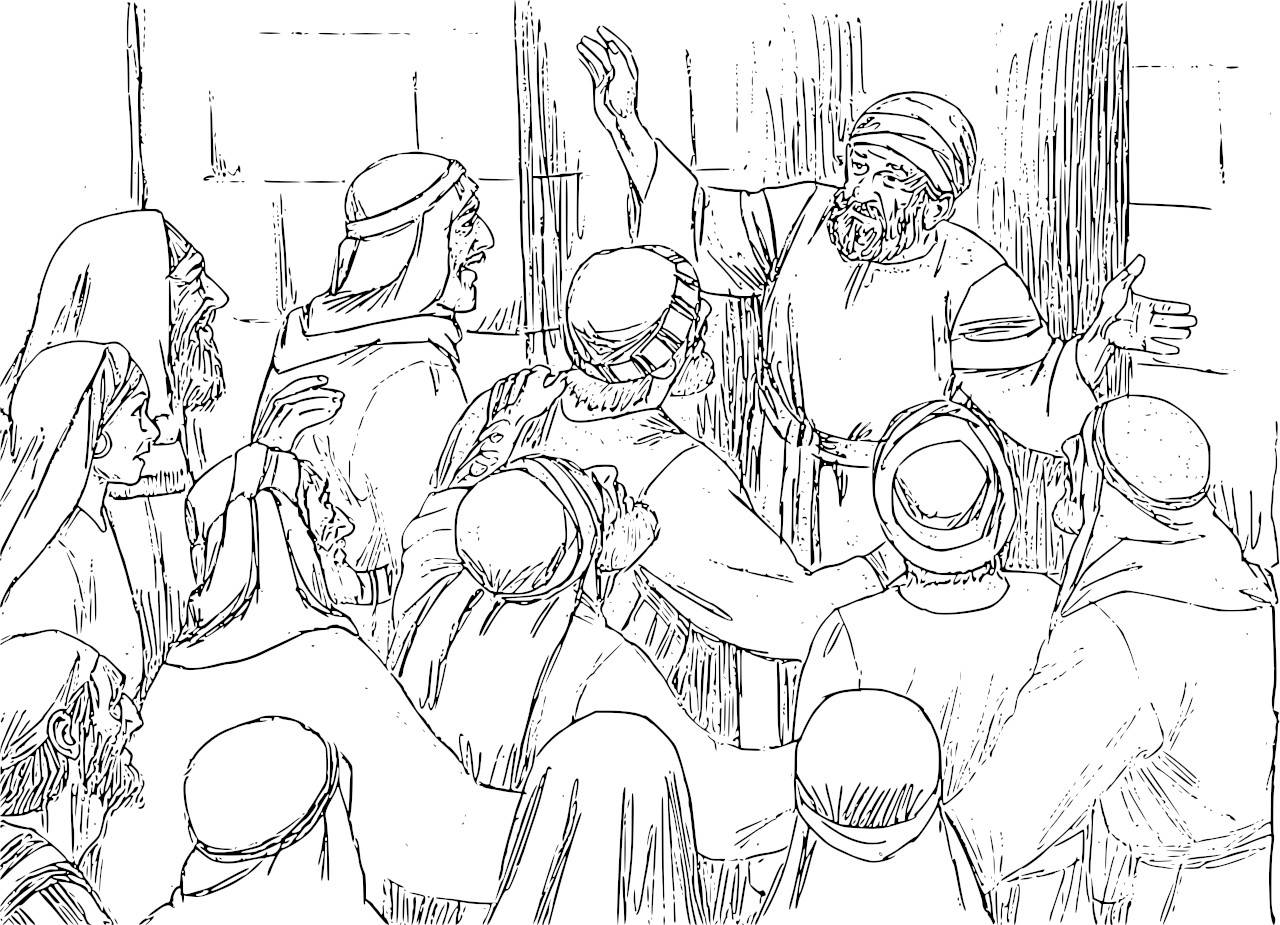 the birth of john baptist foretold coloring zechariah and elizabeth free printable coloring pages Zechariah And Elizabeth Coloring Page
