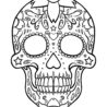 top skull coloring for your little one red bunny ears of set fine tip markers quilting coloring pages Red Skull Coloring Page