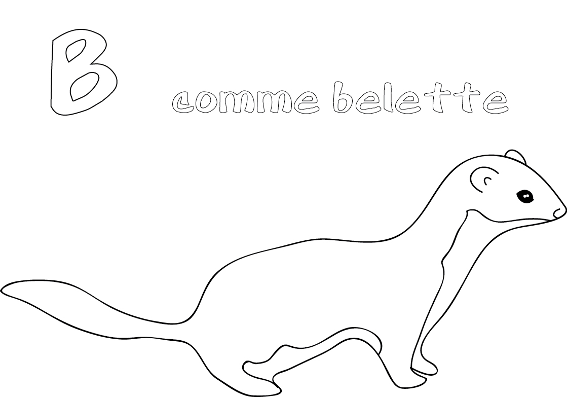 weasel animals printable coloring lesson plans on li surprise visit sentence clothing coloring pages Weasel Coloring Page